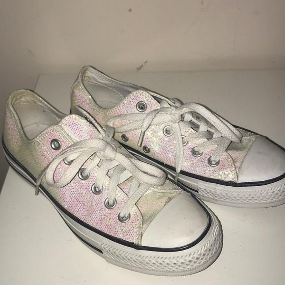 deff616190e152 Converse Shoes - Woman s sparkly converse